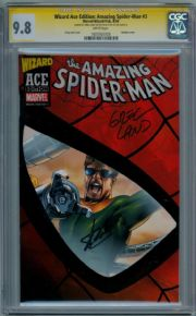 Wizard Ace Amazing Spider-man #3 CGC 9.8 Signature Series Signed Stan Lee Greg Land Marvel comic